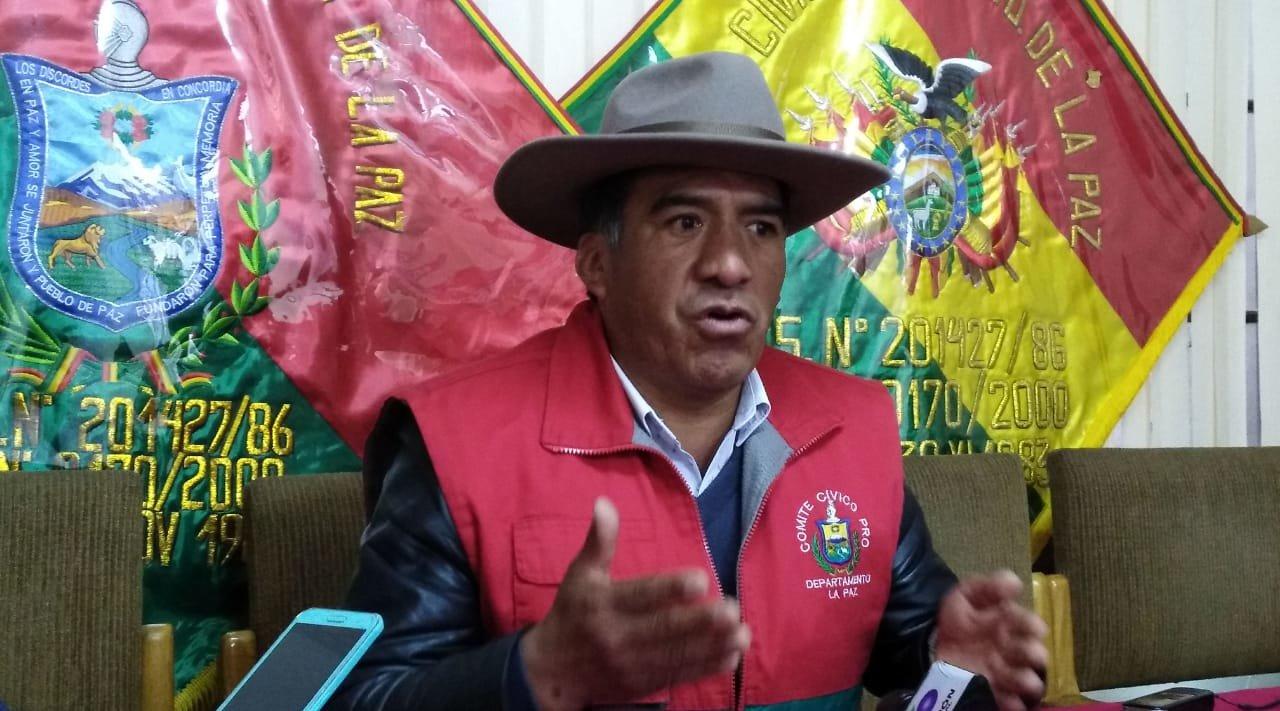 Comité cívico afín al MAS denuncia que un venezolano enviado por Guaidó organiza los conflictos en La Paz