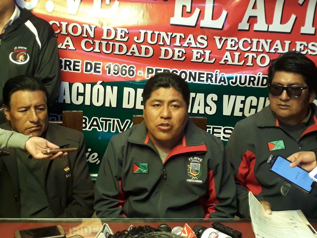 FEJUVE contestataria presenta denuncia penal por los saqueos y actos vandálicos en El Alto durante los conflictos