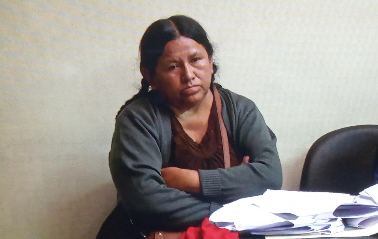 Nemesia Achacollo es enviada a la cárcel de Miraflores por el caso del desfalco del Fondo Indígena