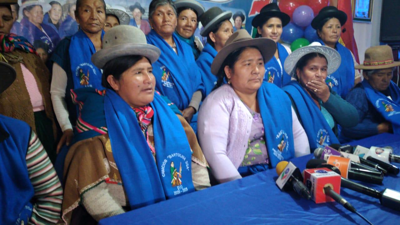 Bartolinas consideran que Morales debería dar el informe de la gestión 2019
