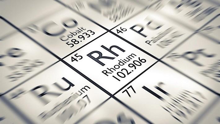El precio del metal rodio supera cinco veces al del oro