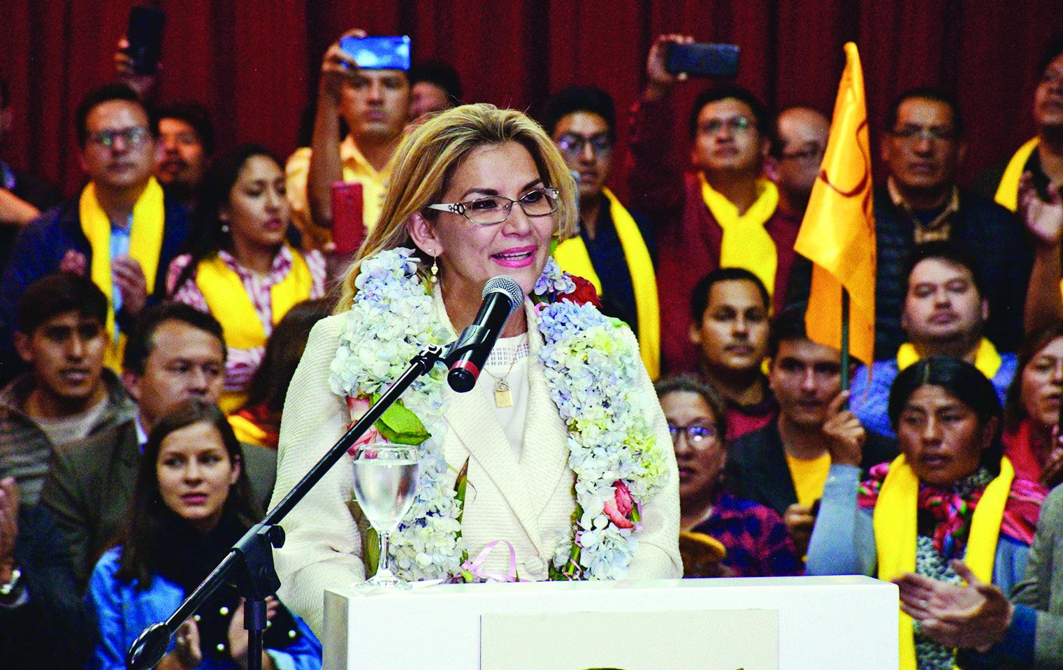 MAS anuncia impugnación a la candidatura de Añez si se inscribe oficialmente