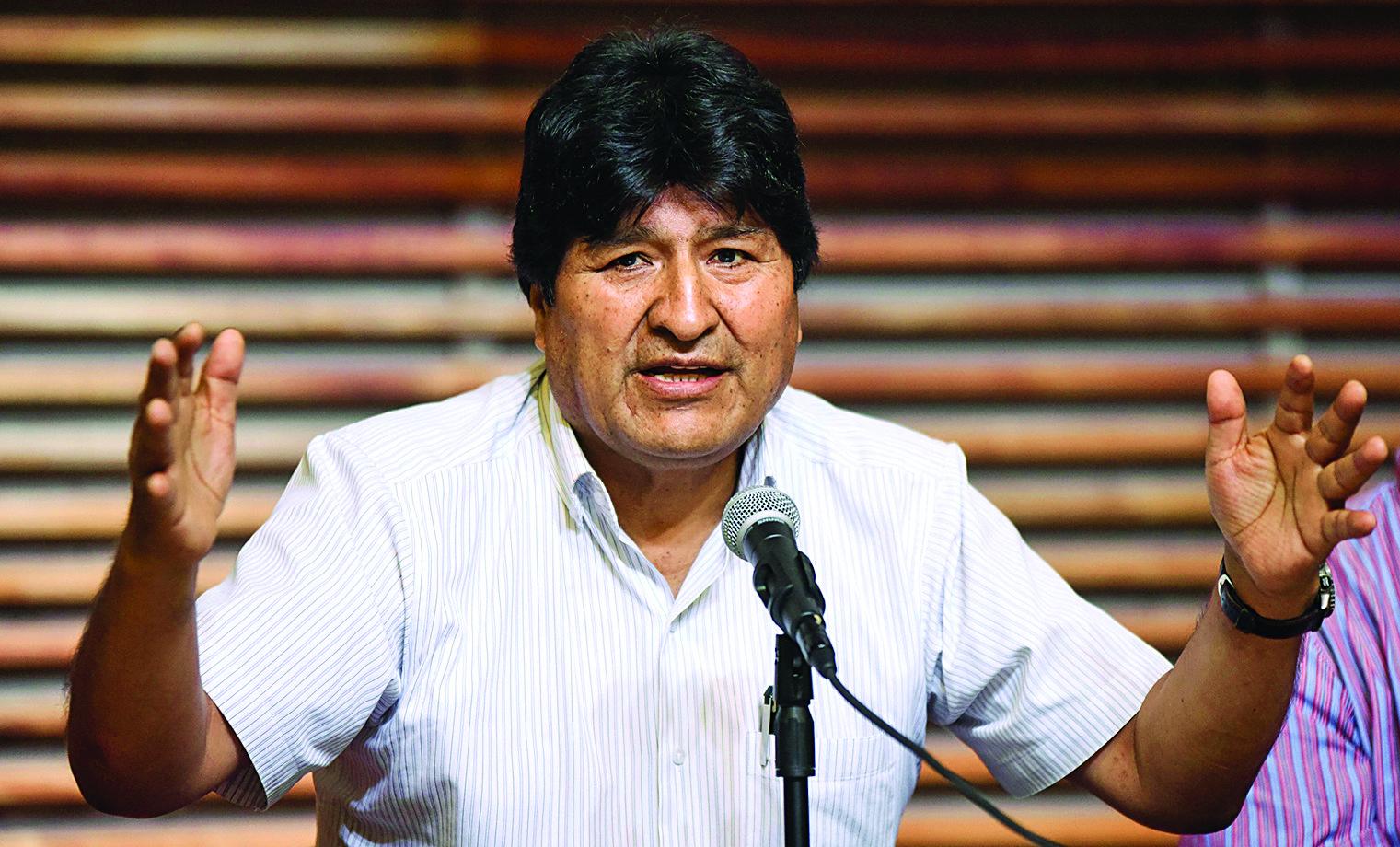 Morales propone acuerdo político para garantizar la paz en las próximas elecciones
