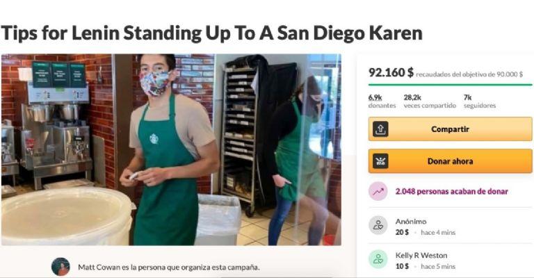Barista recibe $us 90.000 en donaciones tras negar atención a cliente sin mascarilla en Estados Unidos