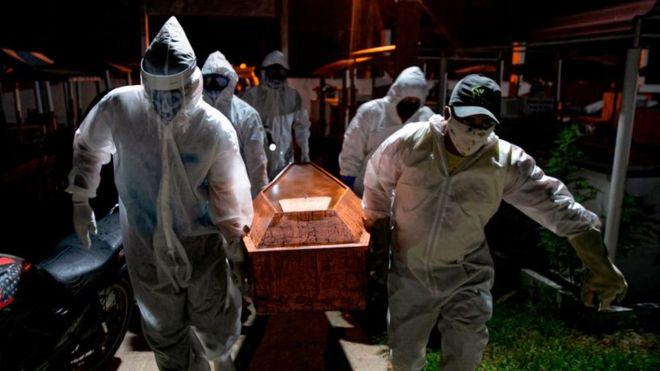 Brasil se vuelve el segundo país con más fallecidos por COVID-19 tras registrar 41.828 muertos