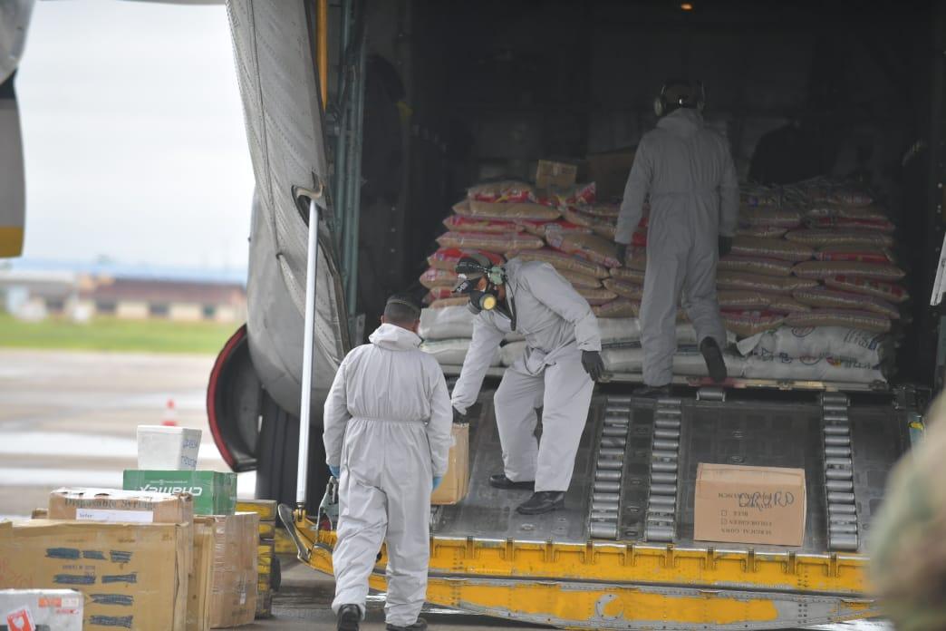 Defensa Civil entrega 10 toneladas de alimentos para las familias de Trinidad