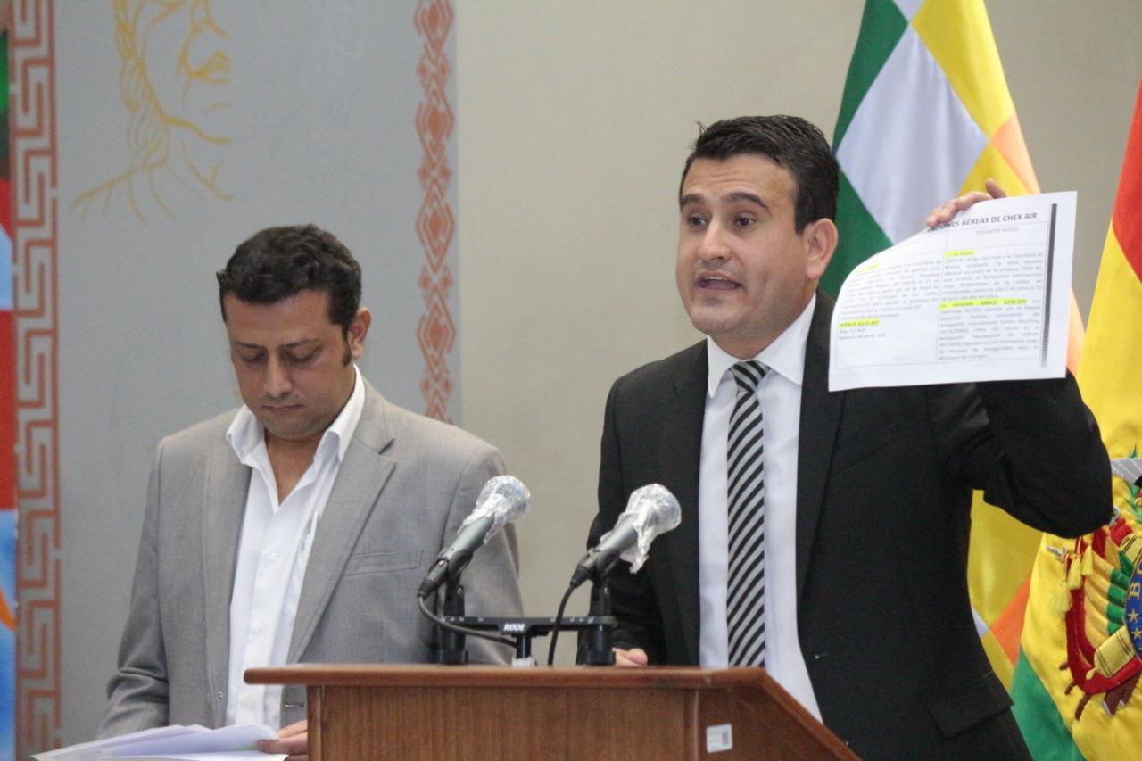 Ministro Guzmán niega compra de insumos médicos y respiradores por $us 2.000.000