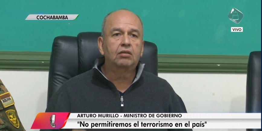 Murillo advierte que ha recibido amenazas de que se intenta atacar la represa de Misicuni