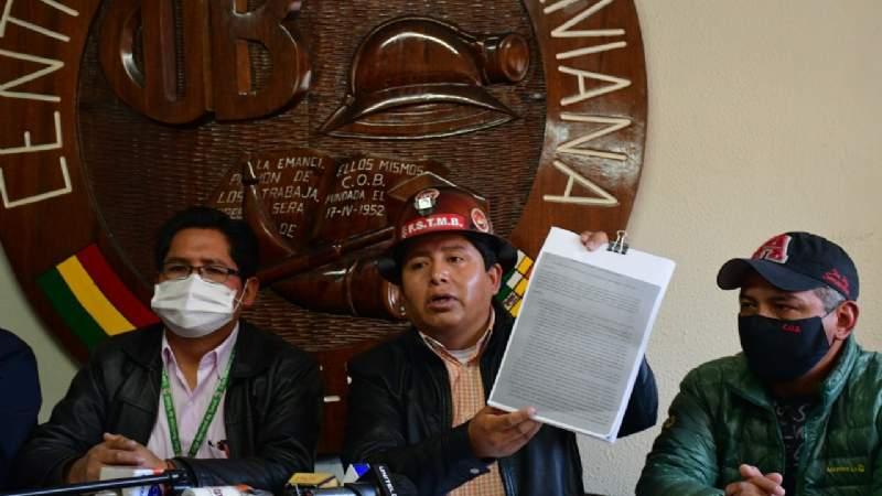 COB anuncia que intervendrá la CNS por supuesta falta de ejecución de su presupuesto