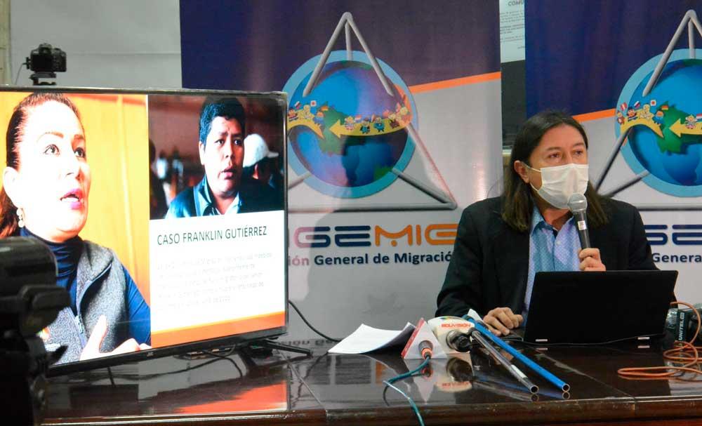 Formalizan querella contra la exdirectora de Migración por presunta manipulación del registro de Franklin Gutiérrez