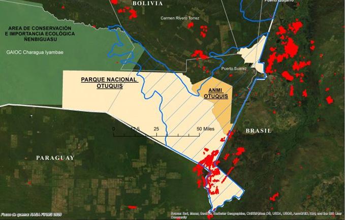 Parque Nacional Otuquis registra 685 focos de calor tras cuatro días de incendio