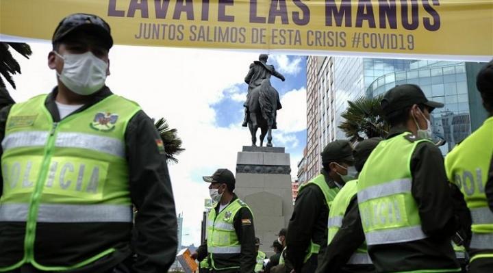 Registran 224 efectivos policiales infectados con COVID-19 en La Paz