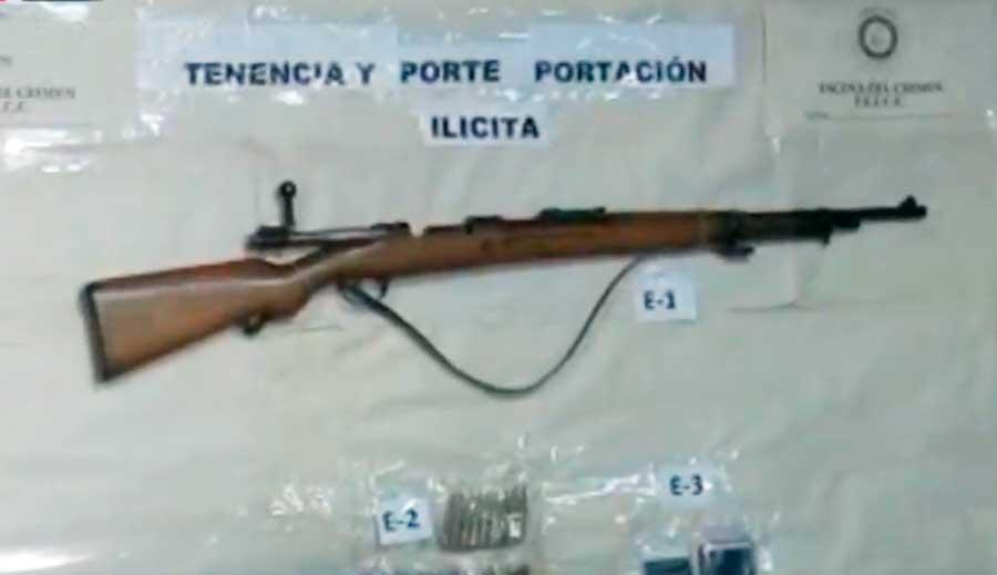 Aprehenden a dos sujetos por estar en posesión de un fusil y 41 proyectiles en Senkata