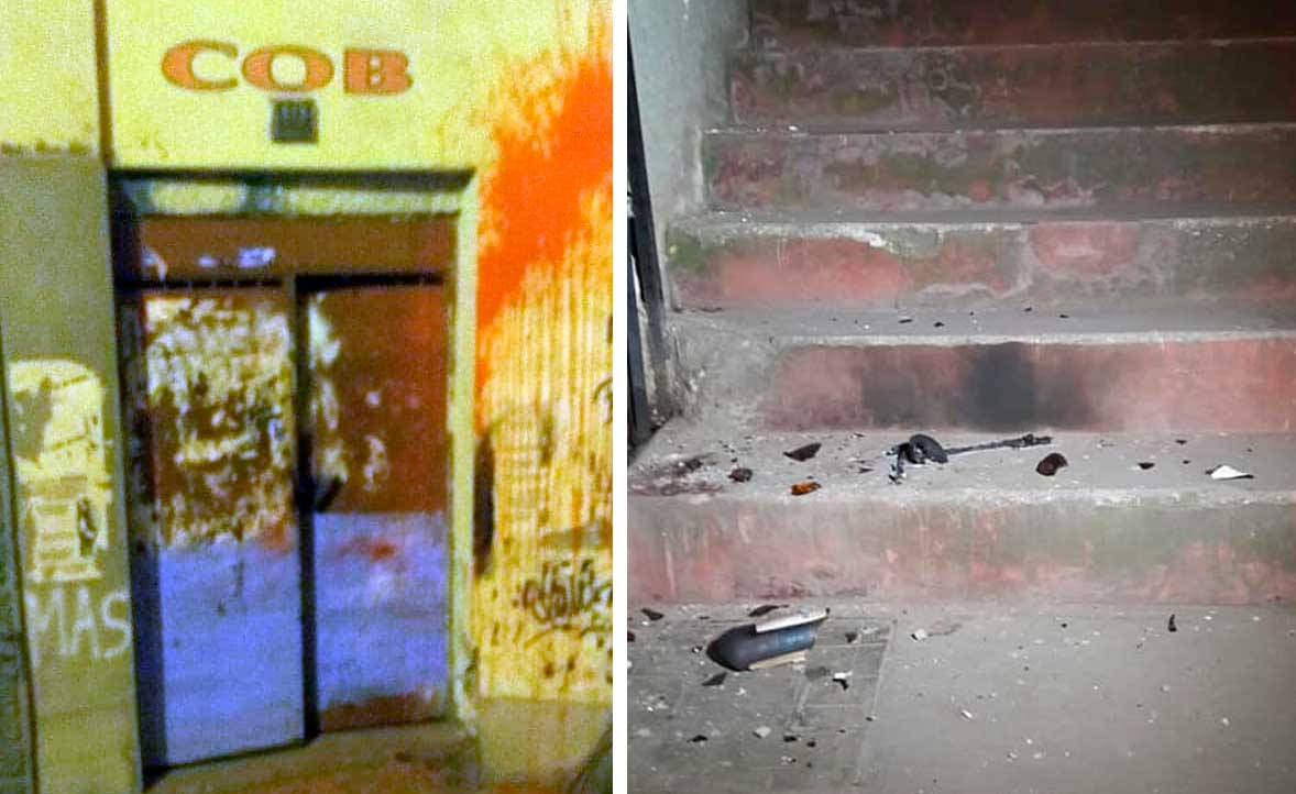 COB denuncia atentado tras reportar explosiones en su sede