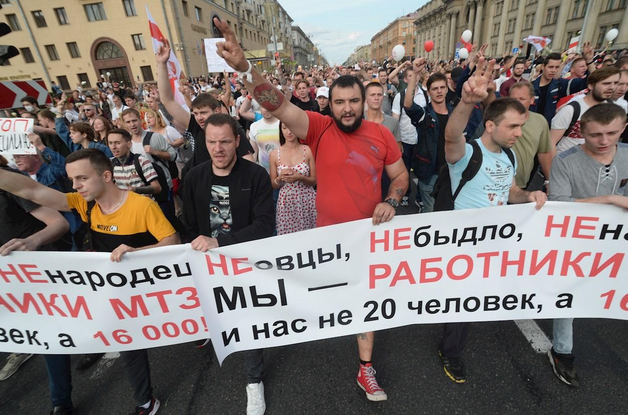 Unión Europea no reconoce los resultados de las elecciones en Bielorrusia