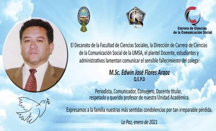 Falleció el periodista y docente Edwin Flores
