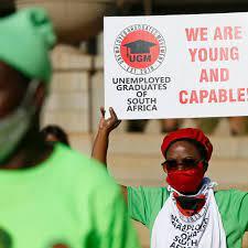 Sudáfrica alcanza punto récord en su tasa de desempleo