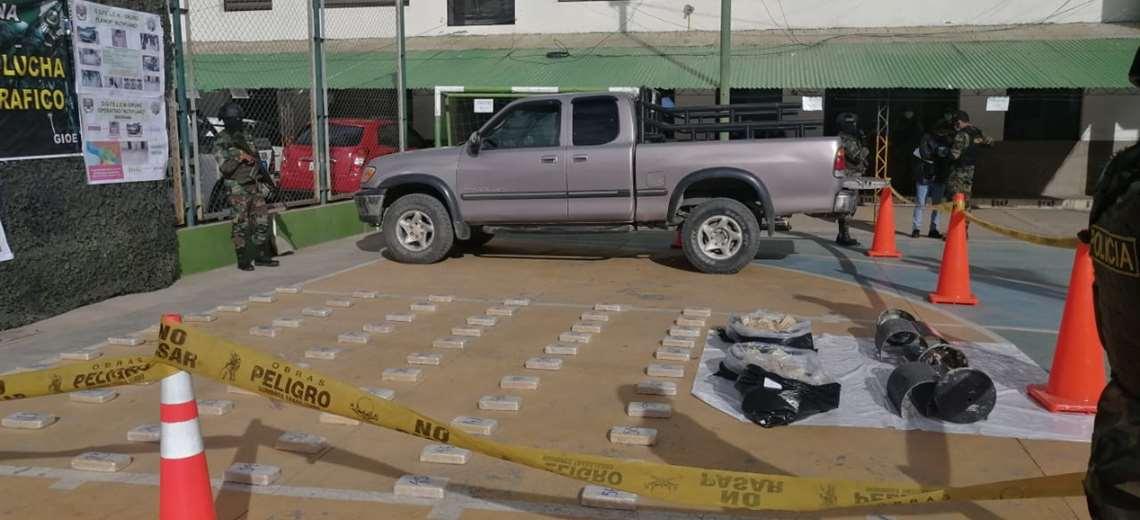 FELCN secuestra droga valuada en $us 344.125 tras dos operativos en Oruro