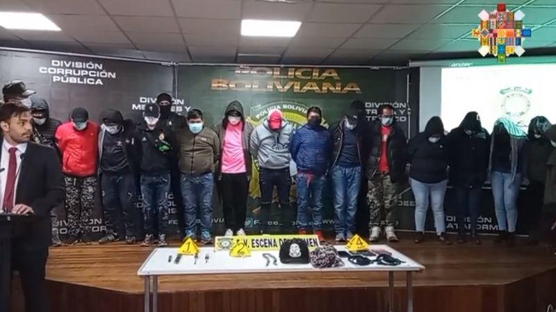 Aprehenden a 10 implicados en la explosión de dinamitas en el bloqueo a los Yungas