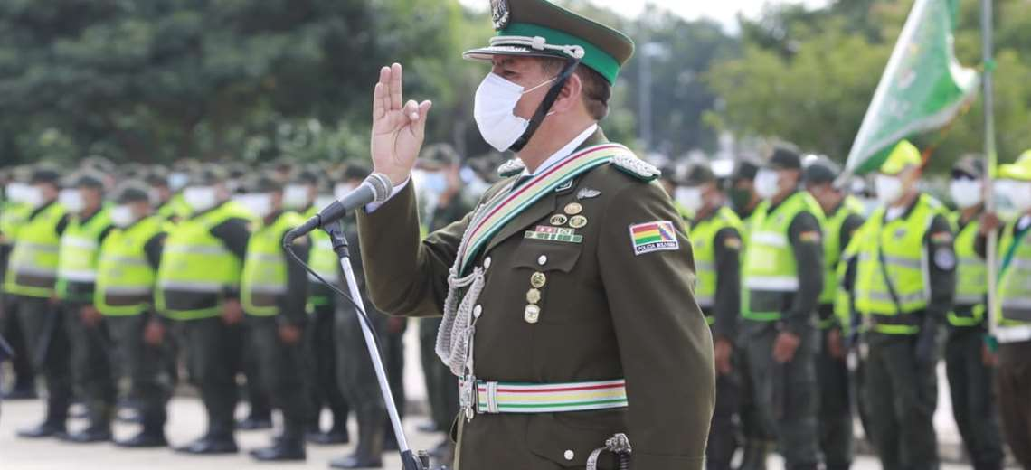 Vladimir Ponce es posesionado como el nuevo comandante de la Policía de Santa Cruz