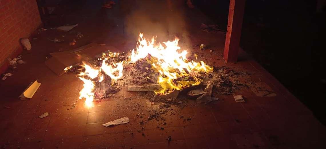 TSE registra quema de ánforas en 5 municipios del país por denuncias de presunto fraude electoral