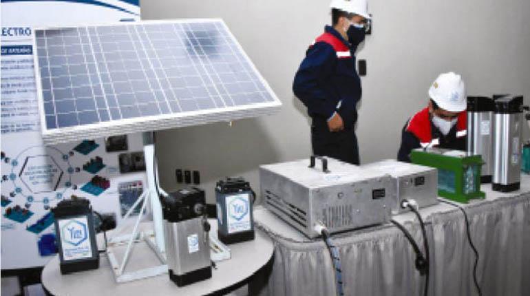 Baterías de litio producidas por YLB se usan en área rural