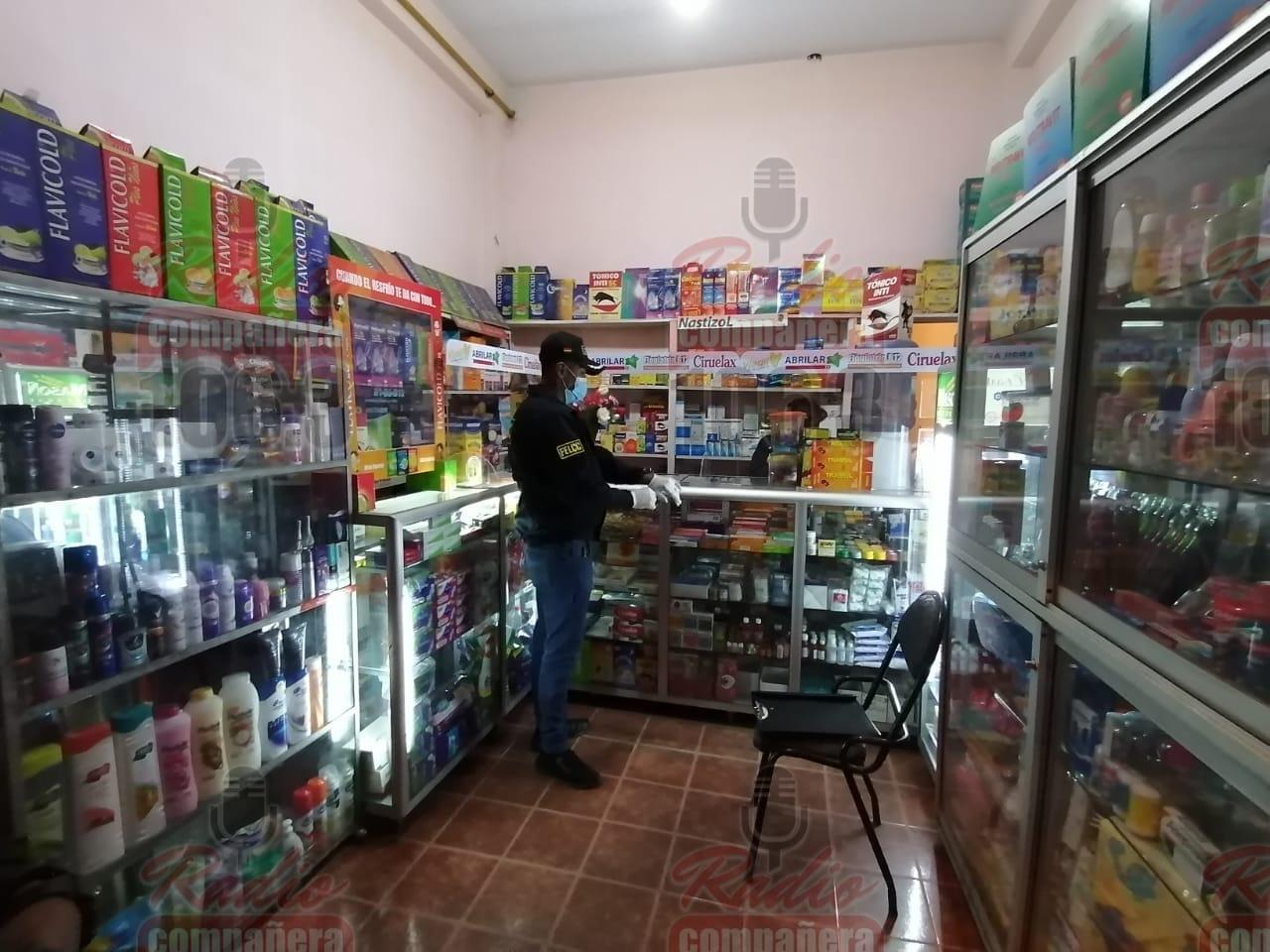 Aprehenden a mujer que comercializaba medicamentos adulterados en una farmacia de Pura Pura
