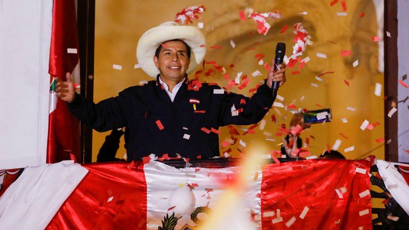 Pedro Castillo se declara ganador de las elecciones de Perú pese a que aún no hay resultado oficial