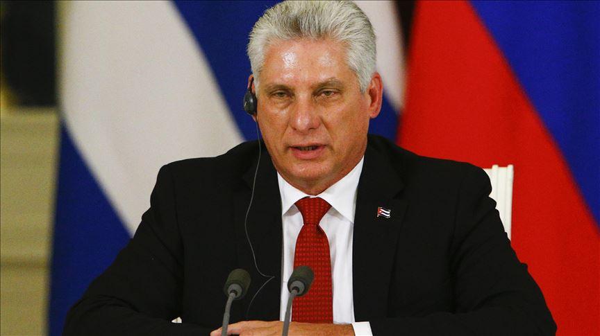 """Presidente de Cuba acusa a EE.UU. de aplicar sanciones económicas para provocar """"estallidos sociales"""""""