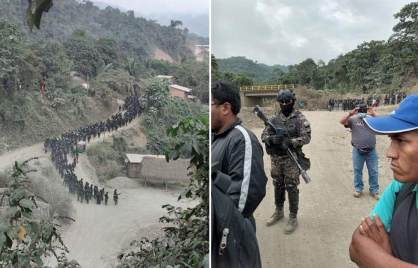 Indígenas de Charopampa denuncian que se reprimió a niños y ancianos para la vulneración de sus tierras