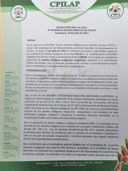 Cooperativa 15 de Mayo asevera que no hay razones para que su institución sea expulsada de Charopampa