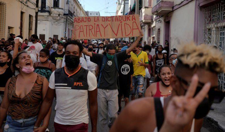 Estados Unidos sancionará a los responsables de la represión contra las protestas en Cuba