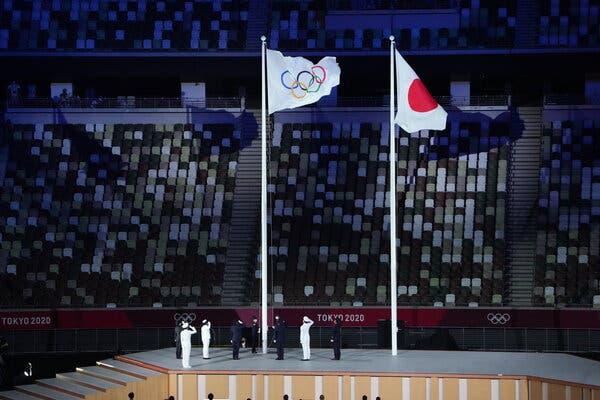 Realizan una ceremonia para dar inicio a los Juegos Olímpicos de Tokio