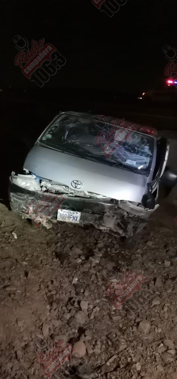 10 personas en estado de ebriedad sufren un accidente vehicular en la carretera Oruro – La Paz