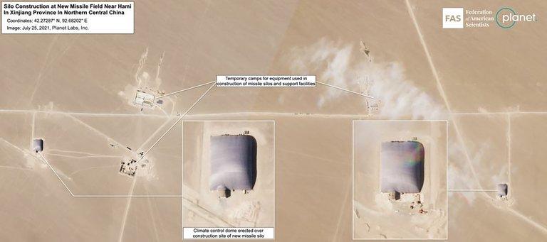 Estados Unidos alerta la construcción de un segundo campo de silos para misiles nucleares en China