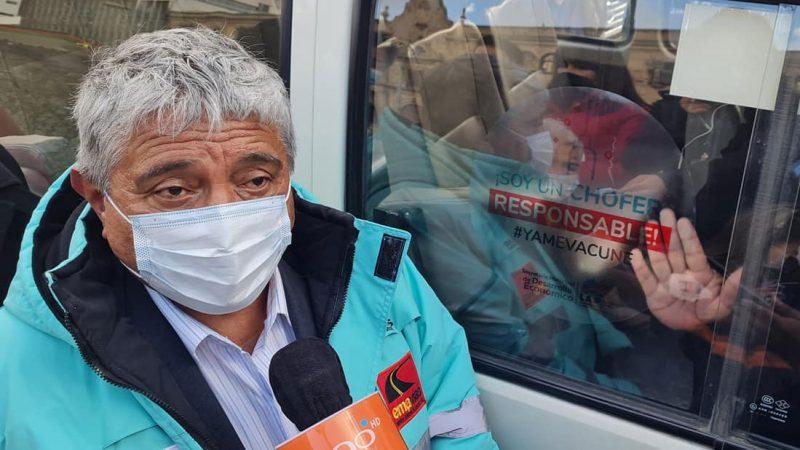 Alcaldía de La Paz lanza campaña para incentivar la vacunación de chóferes