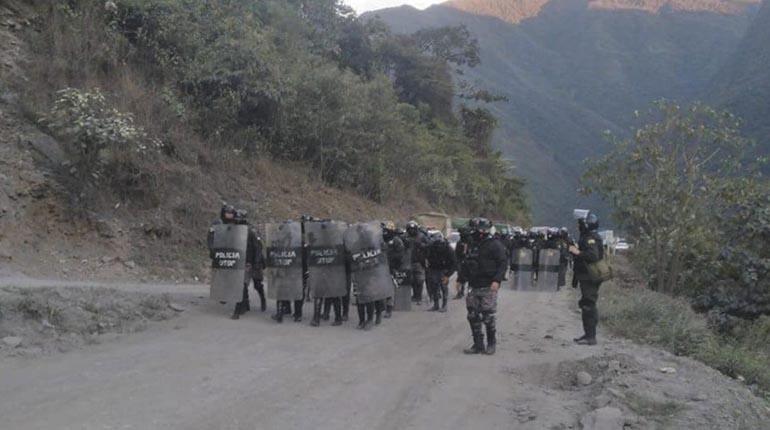 FELCC identifica que un arma larga ocasionó la muerte del efectivo policial en Coripata