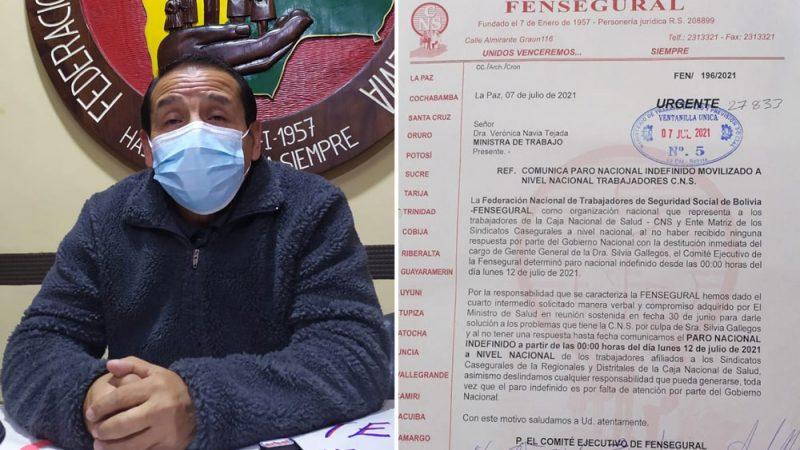 Trabajadores de la CNS anuncian paro nacional indefinido desde el próximo lunes
