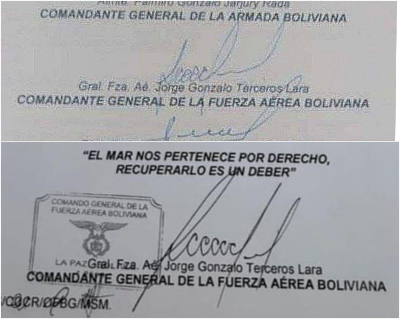 Denuncian que se ha falsificado la firma de Terceros en el documento del recibo de material antidisturbios