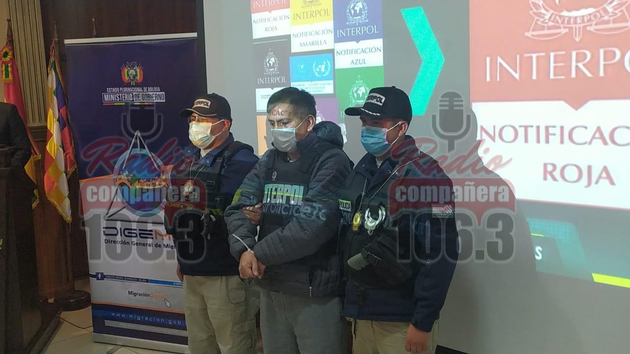 """Peruano con """"sello rojo"""" es detenido por la Interpol en Santa Cruz"""