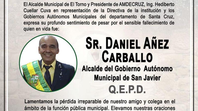 Fallece el alcalde de San Javier en un hotel céntrico de La Paz