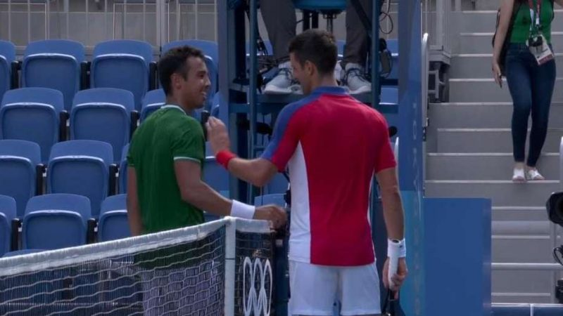 Hugo Dellien perdió frente a Novak Djokovic en los Juegos Olímpicos