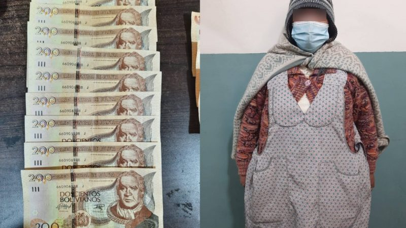 Justicia envía a la cárcel a mujer que compró coca con billetes falsos