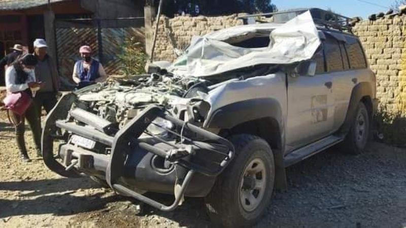 Cuatro asambleístas sufren un accidente de tránsito en Cochabamba