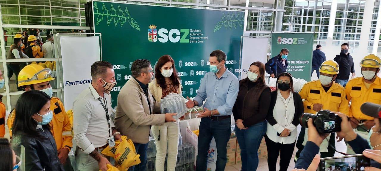 Farmacorp brinda apoyo para la lucha contra el fuego en la Chiquitania