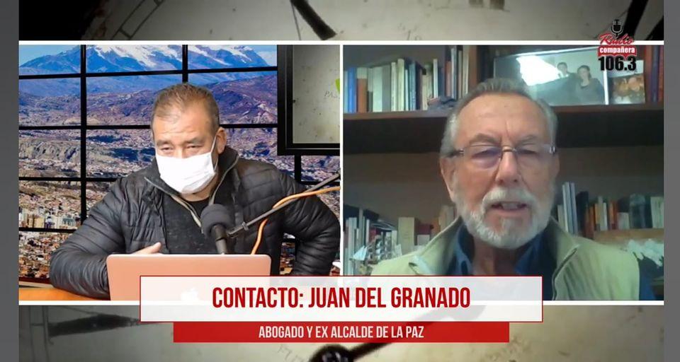 Del Granado opina que el traslado irregular de Añez demuestra que la Justicia no toma en cuenta las recomendaciones del GIEI