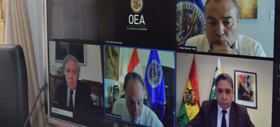 """Gobierno indica a la OEA que no hubo fraude y rechaza """"intervencionismo"""" de Almagro"""