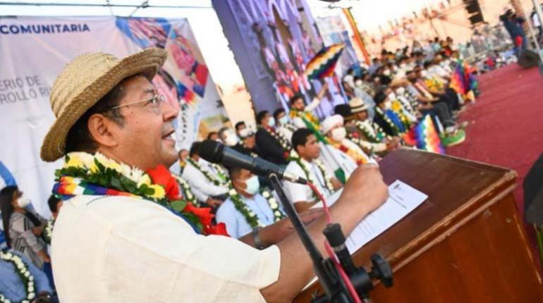Arce advierte que la política de tierras es de exclusiva competencia del Gobierno