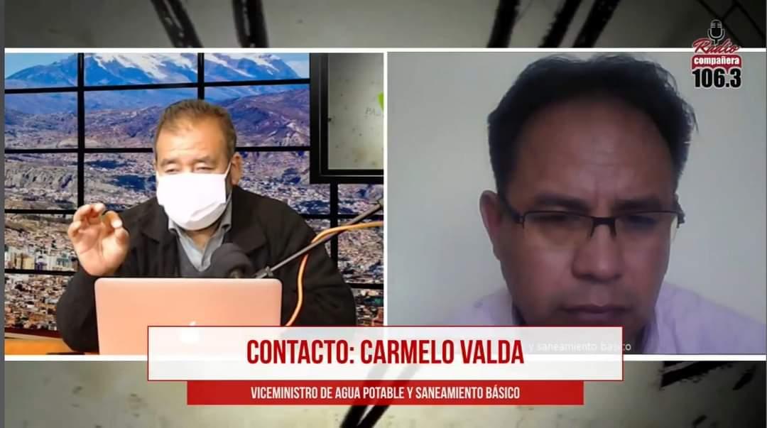 Viceministro Valda aclara que en Cochabamba hay agua para el consumo y solo existe escasez para el riego