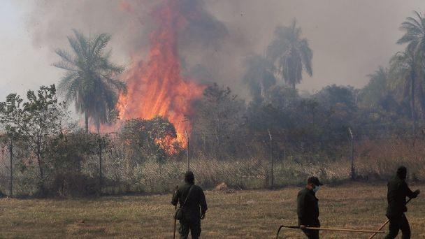 Notificarán a personas de predios particulares para identificar a los responsables del incendio en Viru Viru
